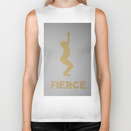 Screenprinted Yoga Art - Utkatasana - Fierce Pose  -Wild Veda Biker Tank