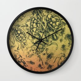 Sunset Turtles Wall Clock