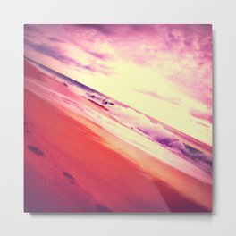 Twisted Pink Beach Metal Print