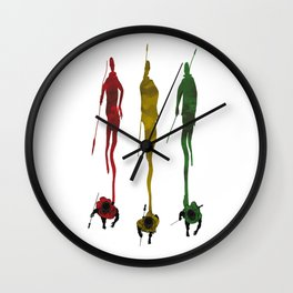 Massai Shadows Wall Clock
