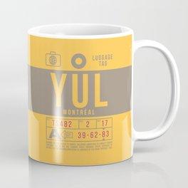 Baggage Tag B - YUL Montreal Canada Coffee Mug