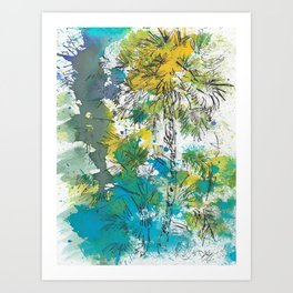 Oasis in the city Art Print