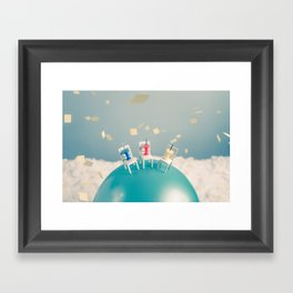 Outdoor Party in a Windy Day Framed Art Print