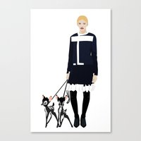 givenchy Canvas Prints featuring Givenchy  by Jo Lee