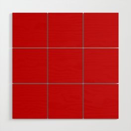 Bright red Wood Wall Art