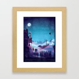 Midnight Street Klubnacht Framed Art Print