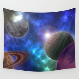 Space Expedition Wall Tapestry