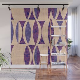 Seventies violet Pattern Wall Mural
