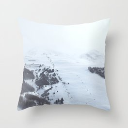 After the snow comes the sun Throw Pillow