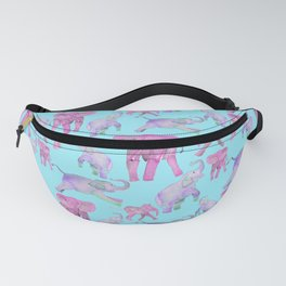 Pink and Lavender Elephants Fanny Pack