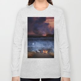Kilauea Volcano Lava Flow. Long Sleeve T-shirt