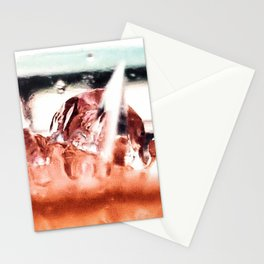 melting ice in a glass Stationery Cards