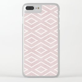 Stitch Diamond Tribal in Pink Clear iPhone Case
