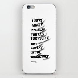 Single iPhone Skin