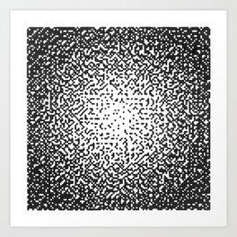 Static Series-Square  Art Print