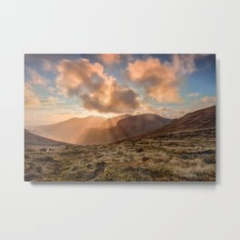 Mourne Mountains Sunset | Ireland Metal Print