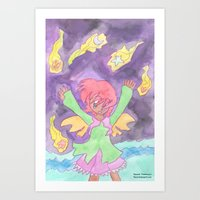 Hug the Stars Art Print