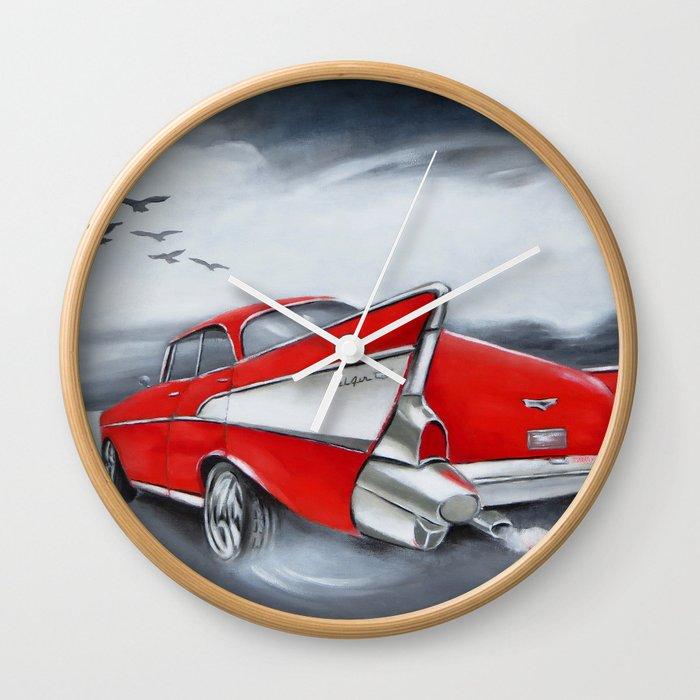 Chevrolet Classic Cars Wall Clock By Marizacharias Society6