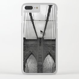 Brooklyn Bridge Cables Clear iPhone Case