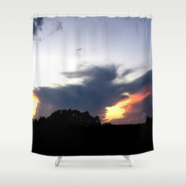 The Storm Clouds Retreat Shower Curtain