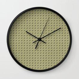 DASH DASH LINEN . MID-CENTURY LICHEN Wall Clock