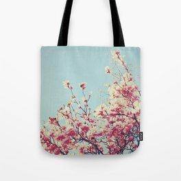 Retro Blossoms Tote Bag