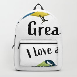 Pair of great tits | bird watching Gift Backpack