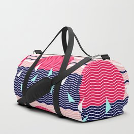 Hello Ocean Sunset Waves Duffle Bag