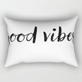 Good Vibes Drawing Rectangular Pillow