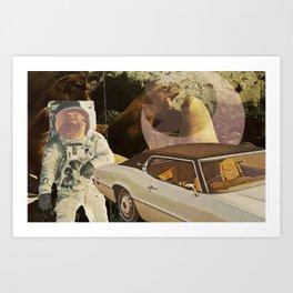 Moon Days Art Print