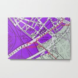 Paris in Purple Metal Print