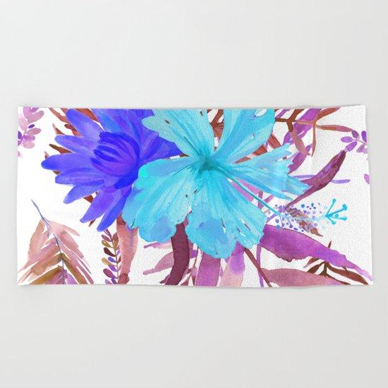 Floral Paradise II Beach Towel