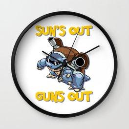 GUNS OUT BLASTOISE Wall Clock