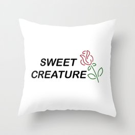 sweet creature - rose Throw Pillow
