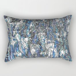 Abstract blue 2 Rectangular Pillow