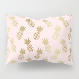 Pink & Gold Pineapples Pillow Sham