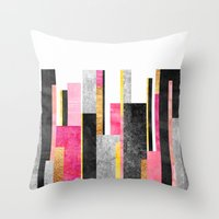 skyline Throw Pillows featuring Skyline by Elisabeth Fredriksson