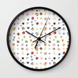 animal crossing pattern Wall Clock