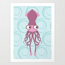 Shock Cousteau Squid Art Print