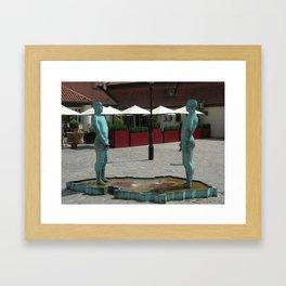 Pee Prague Framed Art Print