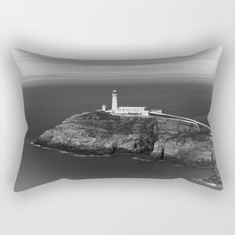 South Stack Lighthouse - Mono Rectangular Pillow