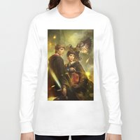 merlin Long Sleeve T-shirts featuring BBC Merlin: Emrys Ascending  by mushroomtale