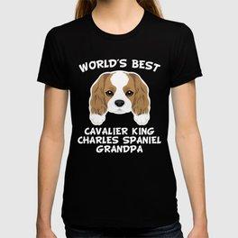World's Best Cavalier King Charles Spaniel Grandpa T-shirt