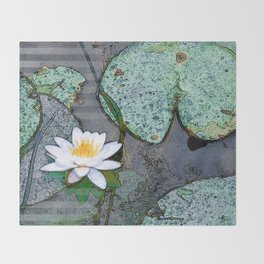 Waterlily Throw Blanket