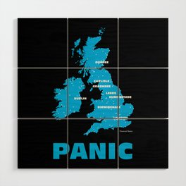 Panic Wood Wall Art