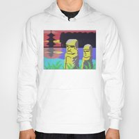 tiki Hoodies featuring Tiki by Vaporware
