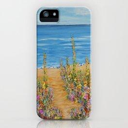 Summer Beach 2, Impressionism Ocean Wall Art, Beach House Decor iPhone Case