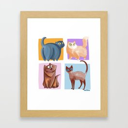 4 Coots Framed Art Print