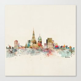 barcelona city skyline Canvas Print