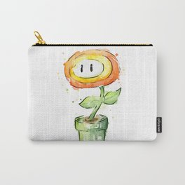 Fireflower Watercolor Painting Carry-All Pouch